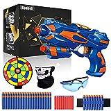 Pistole für Kinder, Blaster Pistole mit 60 Schaumstoffpfeilen + Schutzbrille + Handgelenkband, Kinder Schießspielzeug, Gewehr Kinder Spielzeug mit Kugel, Geburtstag Geschenk Jungs Mädchen 3-10 Jahre