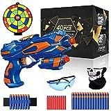 Pistole für Kinder, Nerf Blaster Spielzeug mit 40 Schaumstoffpfeilen, Schutzbrille, Handgelenkband, Gewehr Kinder mit Munition, Schießspielzeug, Spielzeug Jungen, Geburtstag Geschenk Jungen 3-10 Jahre