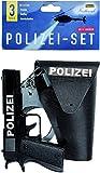 Idena 8040007 - Polizei Set, Pistole, Halfter und Handschellen, Spielset, Mottoparty, Karneval