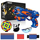 Pistole für Kinder, Gewehr Kinder mit 40 Schaumstoff Munition + Schutzbrille + Darts Handgelenkband, Blaster Kinder Schießspielzeug mit Kugel, Spielzeug Geburtstag Geschenk Jungs Mädchen 3-10 Jahre