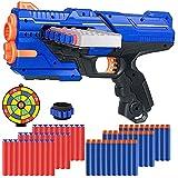 Bonbell Kinder Pistole für Nerf Pfeile, 6-15 Jahre Junge Spielzeug, Kinder Waffe Set mit 12 Schuss Magazin, 60 Schaumstoff Darts, Gewehr Kinder mit Munition, Schießspiel, Geburtstag Geschenk für Jungs