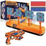 Elektrische Zielscheibe für Nerf Gun, Digitales Ziel mit Spielzeug Pistole, 40 Munition, Wertungfunktion & Auto Rücksetzung & Sound, Schießspiel, Kinder Gewehr Spielzeug Jungen Geschenk 5-12 Jahre