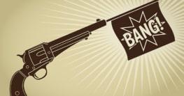 Spielzeugpistole mit Knall - ein echter Klassiker